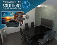 Simple Solution Collaboration Room conference room, collaboration, video conference, conference calls, meeting room, audio, video, media room