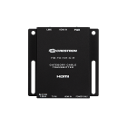"Crestron HD-TX-101-C-E  Supports Dolby® TrueHD, Dolby Atmos®, DTS HD®, DTS:X®, and uncompressed 7.1 linear PCM audio Compatible with HDMI, DVI, and Dual-Mode DisplayPort sources [3] Compatible with the Crestron Multihead HD Video Cable (CBL-MULTI-HD-6, sold separately) USB power port supplies power for the Multihead cable and other USB powered devices HDCP 2.2 compliant Passes CEC and EDID signals Low-profile surface mount design Universal 100-240V power pack included[2] For the DM Lite link cable, use Crestron DM-CBL-8G DigitalMedia 8G™ cable, Crestron DM-CBL-ULTRA DigitalMedia™ Ultra cable, or third-party CAT5e (or better). The maximum cable length is 230 ft (70 m) for resolutions up to 2K or 130 ft (40 m) for higher resolution signals up to 4K. Refer to the ""M"