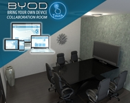 BYOD Collaboration Room conference room, collaboration, video conference, conference calls, meeting room, audio, video, media room