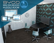 BYOD Huddle Room conference room, collaboration, video conference, conference calls, meeting room, audio, video, media room