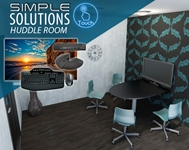 Simple Solution Huddle Room conference room, collaboration, video conference, conference calls, meeting room, audio, video, media room