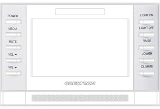 Crestron 4SM-BTNO-W-S 4SM-BTNO-W-S, Buttons, Engravable, Covers